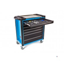 Hazet 232-piece filled 7-drawer XL tool trolley with foam inlays