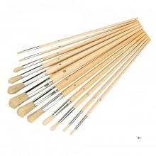 Silverline Brushes Round Tips - 12 Piece