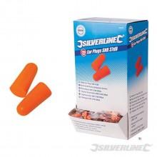 Bouchons d'oreille silverline snr 37 dB emballés par 5 paires