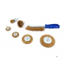 HBM 7-piece wire brush set