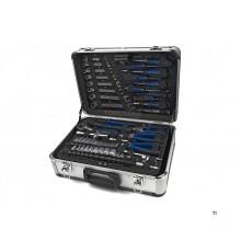 Scheppach TB150 101-teiliger gefüllter Werkzeugkoffer, Werkzeugset