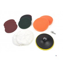 HBM 12 Piece Polishing Set and Sanding Set with M14 and 6 mm Recording