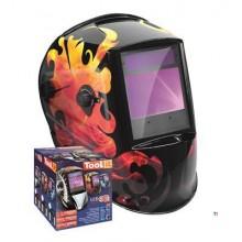 GYS Casco per saldatura LCD Zeus 5-9/9-13G, Fire