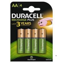 Duracell genopladelige batterier Plus AA 4stk.