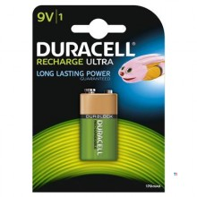 Batteria Ricaricabile Duracell Ultra 9V 1pz.