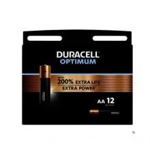 Duracell Alkaline Optimum AA 12pzs.