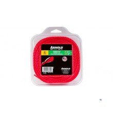 Arnold Trimmerdraad 2.7mmx15m, rood, rond, gedr.