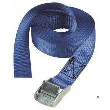 Curea MasterLock 2,5m x 25mm, albastru, 100kg