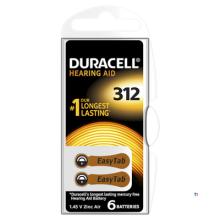 Duracell hörapparatsbatterier 312 6st.