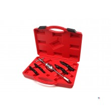 HBM 5-piece inner bearing puller set for recessed bearings with impact puller