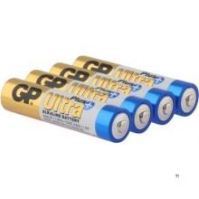 Batteria GP AAA Alcalina Ultra Plus 1.5V 4 pezzi