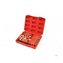 HBM 13-piece crankshaft pulley puller set