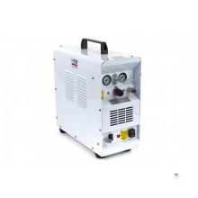HBM 1 PK Professionel støjsvag kompressor med 1 og 6 liters tank inklusive luftslange og malingssprøjte