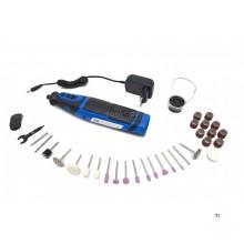 HBM 8 volt multifunktionell hobbymaskin på batteri med 42 tillbehör
