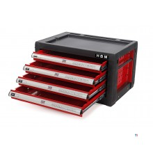HBM 4 Drawers Tool box - RED