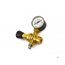 HBM pressure reducing valve including manometer for mig-mag disposable bottle
