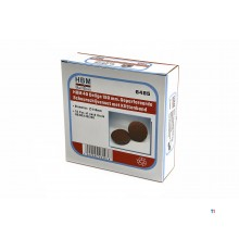 HBM 40 parts 150 mm.perforated velcro sanding disc set with velcro