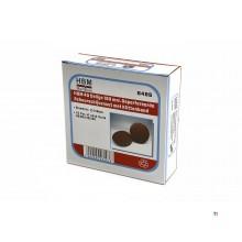 HBM 40 Teile 150 mm.perforierte Klett-Schleifscheibe mit Klettverschluss
