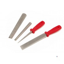 HBM 4-piece diamond file set for sharpening wood turning tools