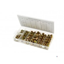 HBM 150 piece blind rivet nuts assortment steel