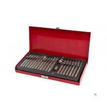 HBM 40-piece hex, torx and serrated bit set
