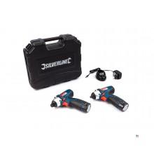 Silverline 10,8 baterie cheie de impact și șurubelniță