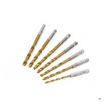 7-bitars silverline - borrsats 3 - 6,5 mm.