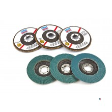 HBM zirconium lamella sanding discs for the angle grinder