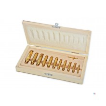 HBM 12-delers HSS - Tin Coated Center Drill Bit Set