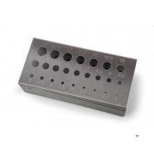 HBM rustfritt stål borestativ 1-13mm