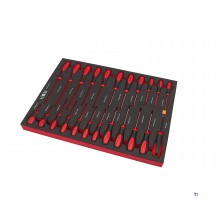 HBM professional 23-piece screwdriver set foam inlay for HBM tool trolley