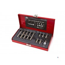 AOK 11-piece professional spline bit set with 1/2