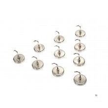 HBM 10 piece 3.65 kg. magnetic hook set