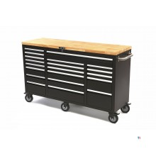 HBM 20 drawers tool trolley / workbench with wooden worktop
