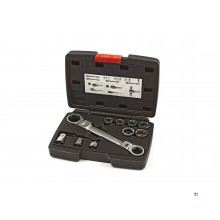 HBM 15 in 1 through ring ratchet wrench set including 1/4