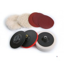 HBM 9 pcs.grinding sanding and polishing set for the angle grinder