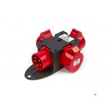 Hbm 400 volt 3-vägs distributionsblock 32 ampere