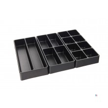 HBM 3-part inlay set for tool trolley 40 mm. high