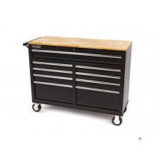 HBM 112 cm. mobile tool trolley, workbench with wooden worktop
