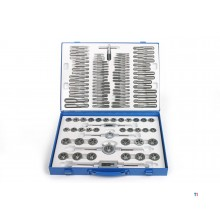 HBM 110-piece tap and cutting set metric