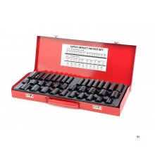 HBM 38-piece long and short metric and English power socket set
