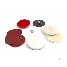 Silverline 8-piece sanding and polishing set 180 mm.