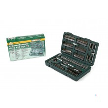 Mannesmann 130 pieces 1/4 socket wrench set - 29166