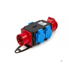 HBM 1 x 400 volt and 3 x 230 volt distribution block