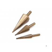 HBM hss - 5% cobalt step hole drills / step drills