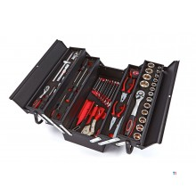 HBM profi 85-piece filled tool box with foam inlays