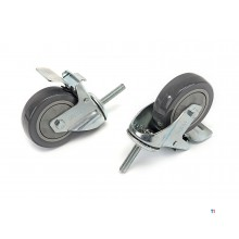 HBM profi 100 mm. swivel castor with threaded rod and brake