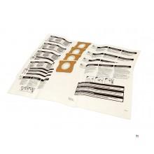 Ensemble de 5 sacs à poussière Michelin pour aspirateur eau et poussière Michelin 20 litres