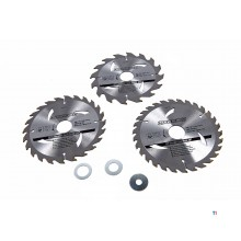 Silverline 3-piece saw blade set 180mm