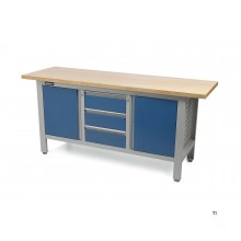 HBM 169 cm. workbench with 3 drawers and 2 doors